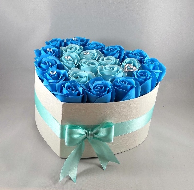 Blue Crystal Flower Box